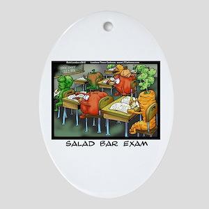 Salad Bar Exam Ornament (oval)