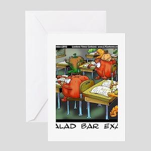 Salad Bar Exam Greeting Card