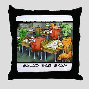 Salad Bar Exam Throw Pillow
