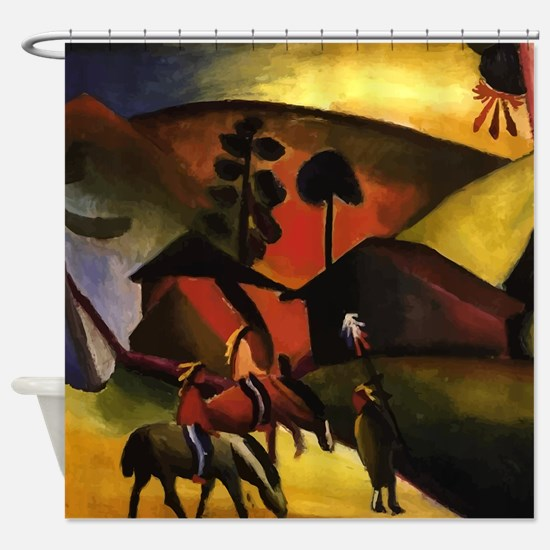 August Macke Native Aericans on horses Shower Curt