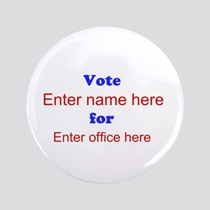 """Simple Blue and Red Campaign 3.5"""" Button"""