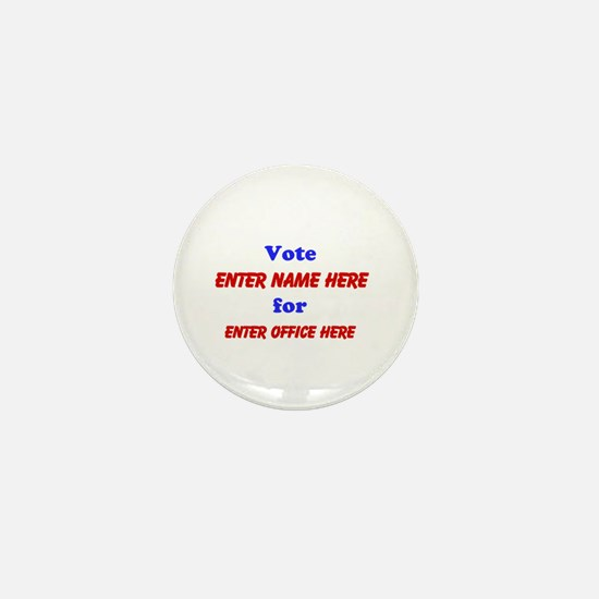 Simple Blue and Red Campaign Mini Button