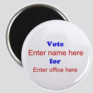 Simple Blue and Red Campaign Magnet