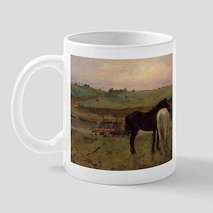 Edgar Degas Horses In A Meadow Mug