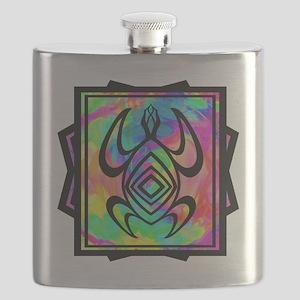 Tiedye Turtle Flask