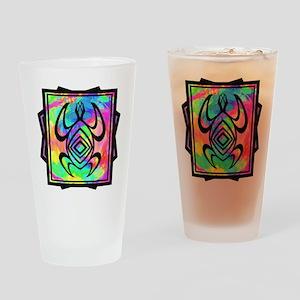 Tiedye Turtle Drinking Glass