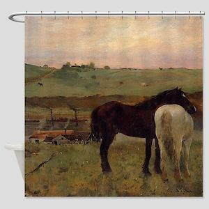 Edgar Degas Horses In A Meadow Shower Curtain