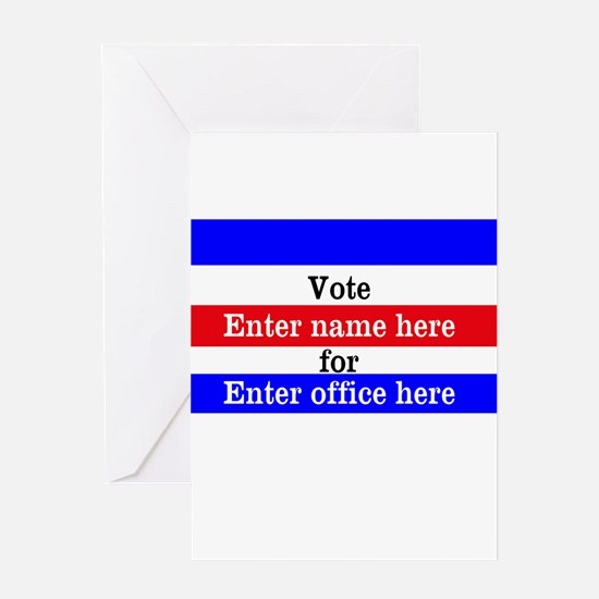 Striped Campaign Greeting Card
