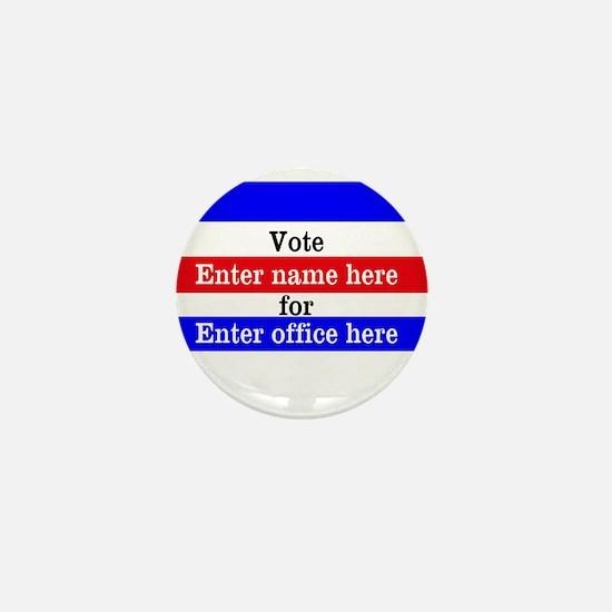 Striped Campaign Mini Button