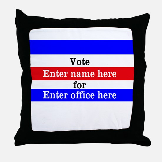 Striped Campaign Throw Pillow