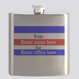 Striped Campaign Flask