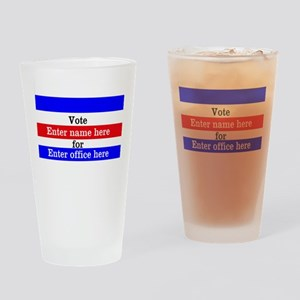 Striped Campaign Drinking Glass