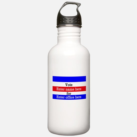 Striped Campaign Water Bottle