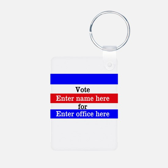Striped Campaign Keychains