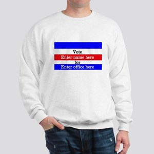 Striped Campaign Sweatshirt