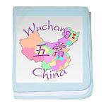 Wuchang China Map baby blanket