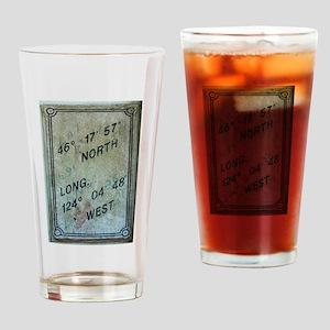 Latitude & Longitude Attitude Drinking Glass