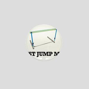 Just Jump Me. (Hurdle Fan Design) Mini Button