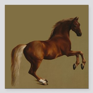 """George Stubbs Whistlejacket Square Car Magnet 3"""" x"""