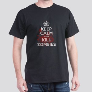 Keep Calm and Kill Zombies Dark T-Shirt
