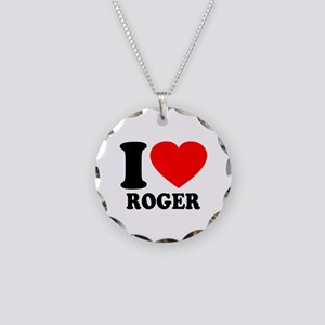 I (Heart) Roger Necklace Circle Charm