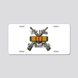 Vietnam Veteran in Vietnamese Aluminum License Pla