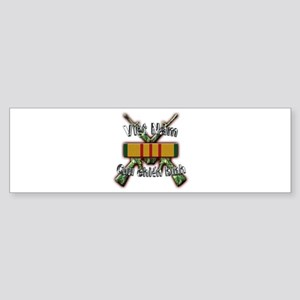 Vietnam Veteran in Vietnamese Sticker (Bumper)
