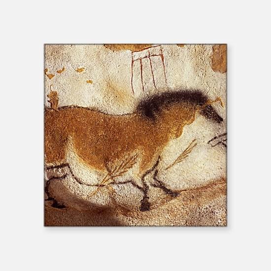 """Lascaux Horse Painting Square Sticker 3"""" x 3"""""""