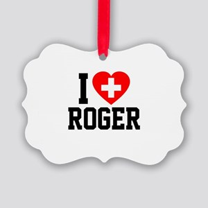 I Love Roger Picture Ornament