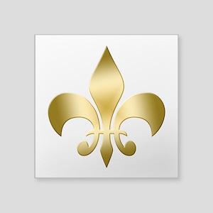 "New Orleans Fleur Square Sticker 3"" x 3"""