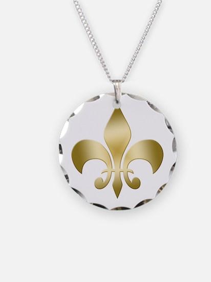 New Orleans Fleur Necklace Circle Charm
