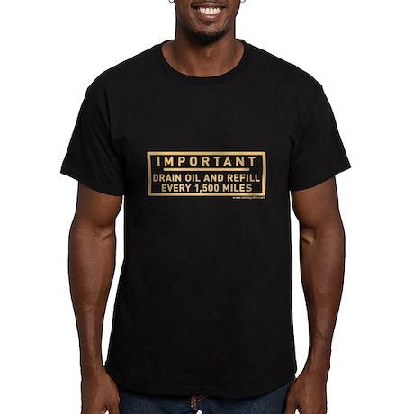 Drain Oil Sticker Men's Fitted T-Shirt (dark)