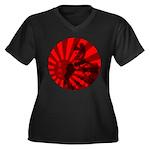 Admiral Togo Women's Plus Size V-Neck Dark T-Shirt