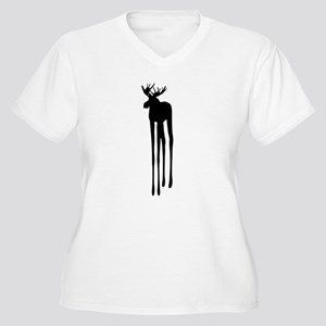 Moose Drippings Women's Plus Size V-Neck T-Shirt