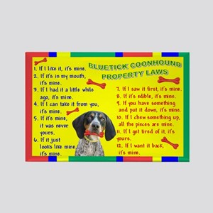 Bluetick Coonhound Property Laws 1 Rectangle Magne