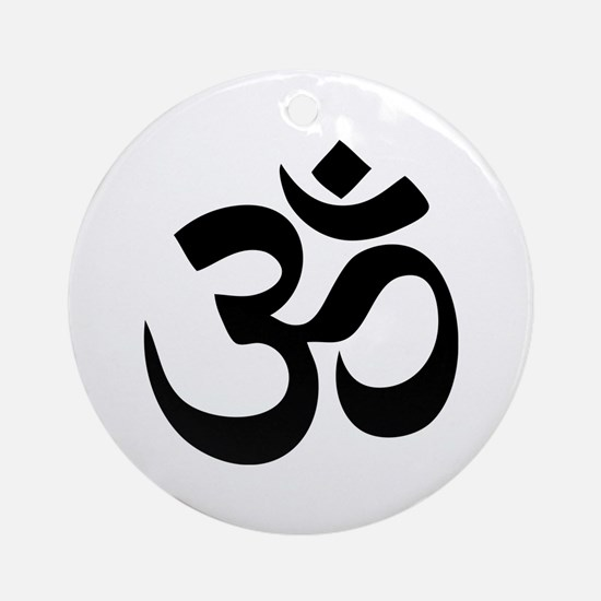 Om Aum Ornament (Round)