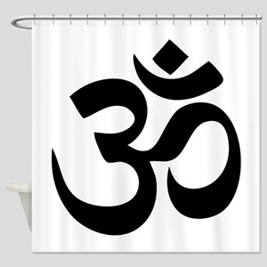Om Aum Shower Curtain