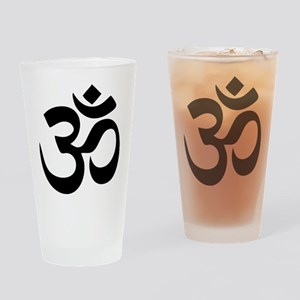 Om Aum Drinking Glass