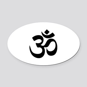 Om Aum Oval Car Magnet