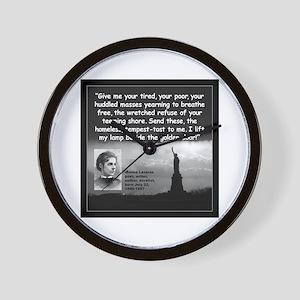 Lazarus Liberty Quote 2 Wall Clock