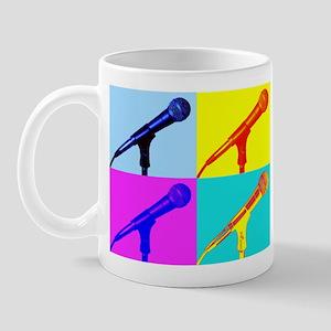 Pop Art Microphone Illustration Mug