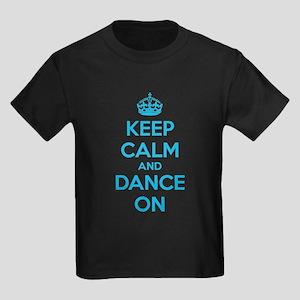 Keep calm and dance on Kids Dark T-Shirt