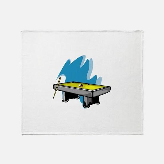 Pool Game Throw Blanket