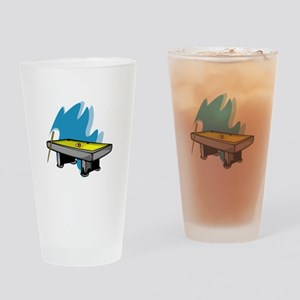 Pool Game Drinking Glass