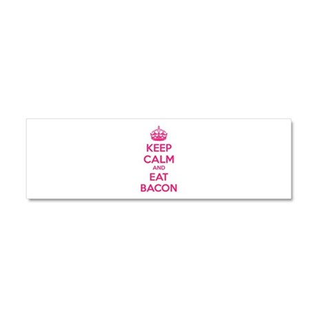 Keep calm and eat bacon Car Magnet 10 x 3