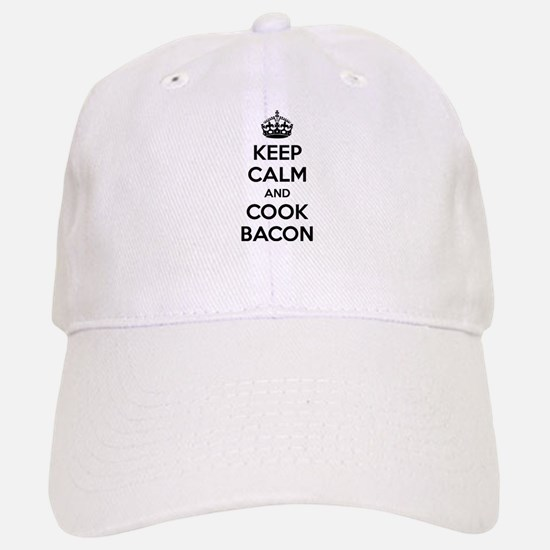 Keep calm and put bacon on Baseball Baseball Cap