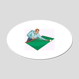 Pool Game 22x14 Oval Wall Peel
