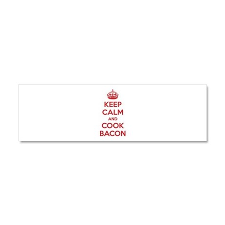 Keep calm and cook bacon Car Magnet 10 x 3