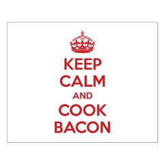 Keep calm and cook bacon Posters
