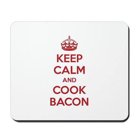 Keep calm and cook bacon Mousepad